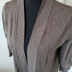 Premise Open Front Cardigan w/ 3/4 Sleeves